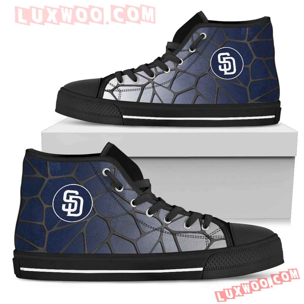 Colors Air Cushion San Diego Padres Gradient High Top Shoes