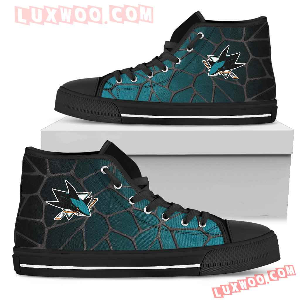 Colors Air Cushion San Jose Sharks Gradient High Top Shoes