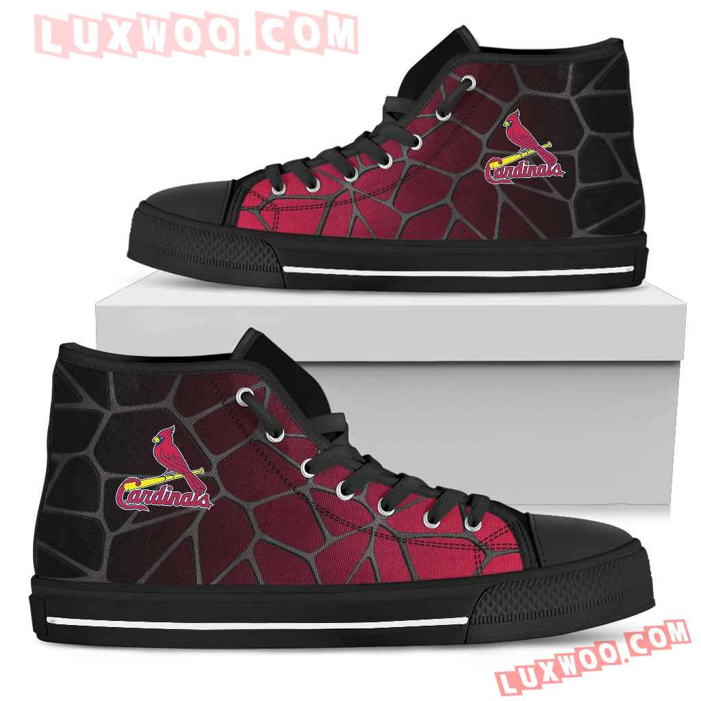 Colors Air Cushion St Louis Cardinals Gradient High Top Shoes