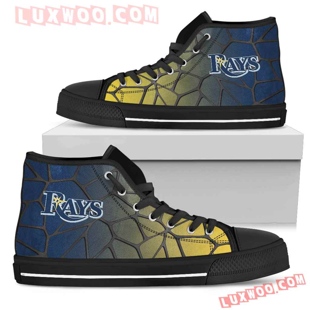 Colors Air Cushion Tampa Bay Rays Gradient High Top Shoes