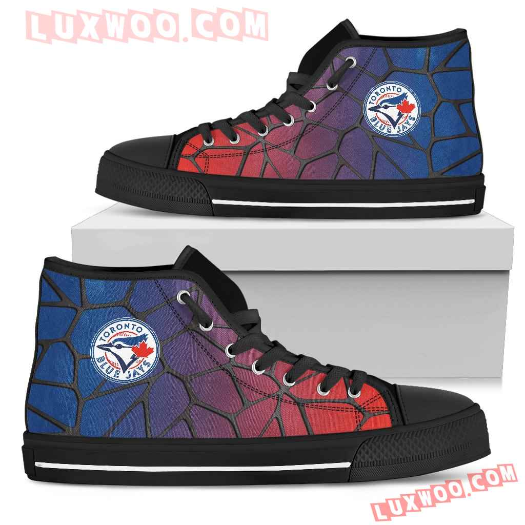 Colors Air Cushion Toronto Blue Jays Gradient High Top Shoes