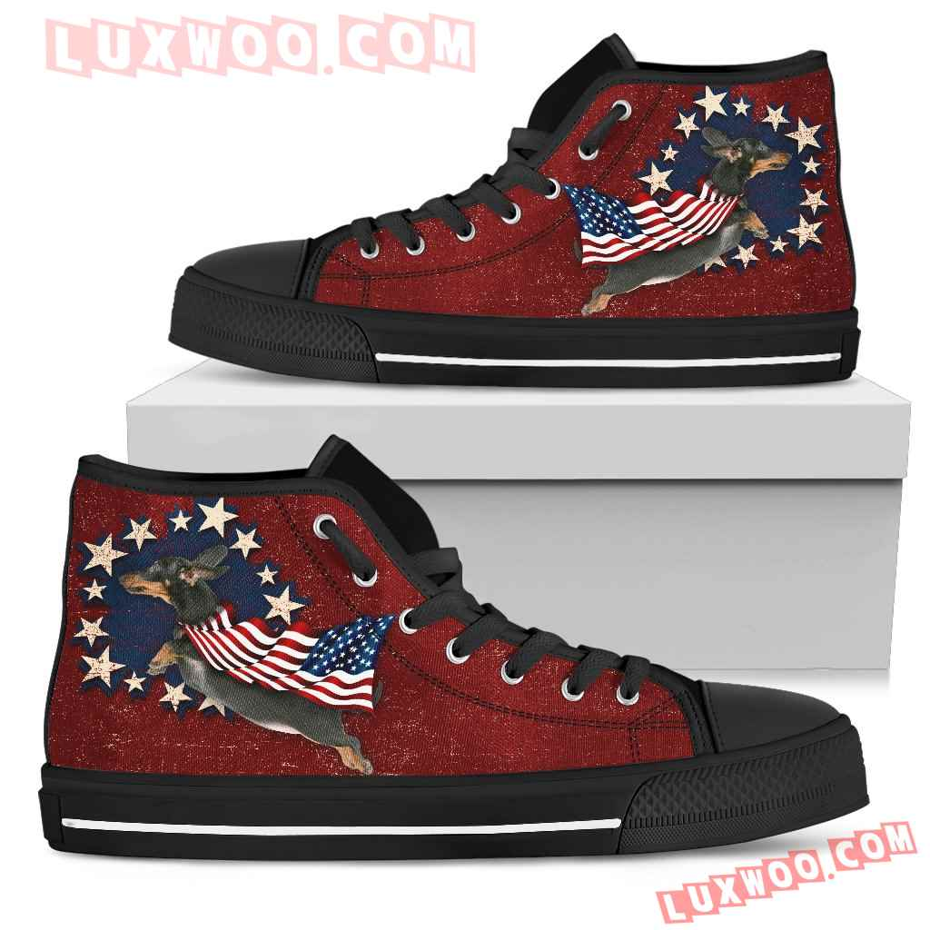 Dachshund - Independence Day High Top Shoes