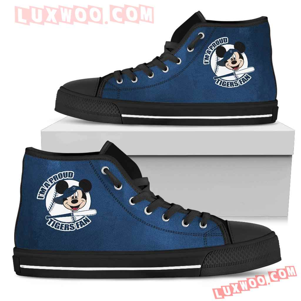 Detroit Tigers Fan Mickey Circle High Top Shoes