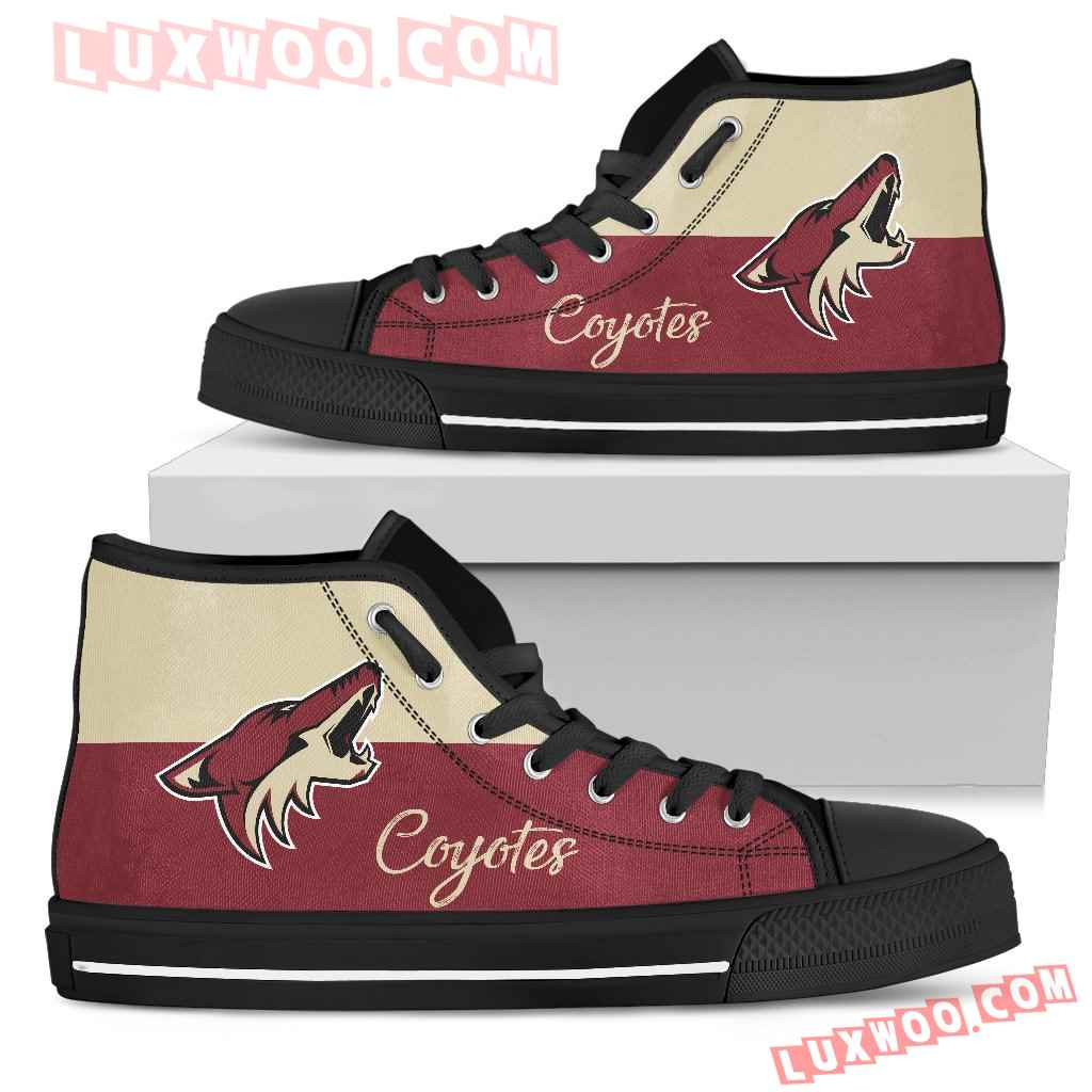 Divided Colours Stunning Logo Arizona Coyotes High Top Shoes