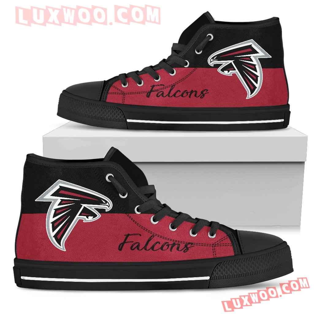 Divided Colours Stunning Logo Atlanta Falcons High Top Shoes