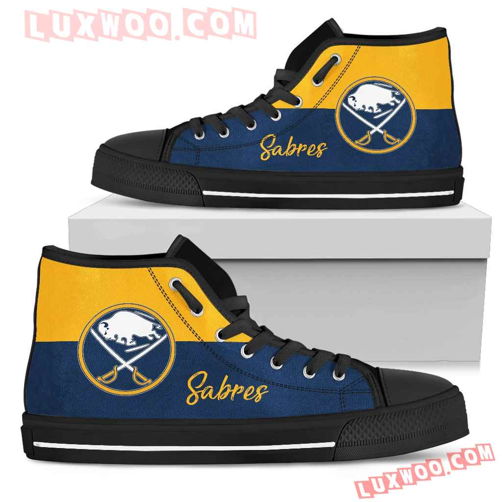 Divided Colours Stunning Logo Buffalo Sabres High Top Shoes