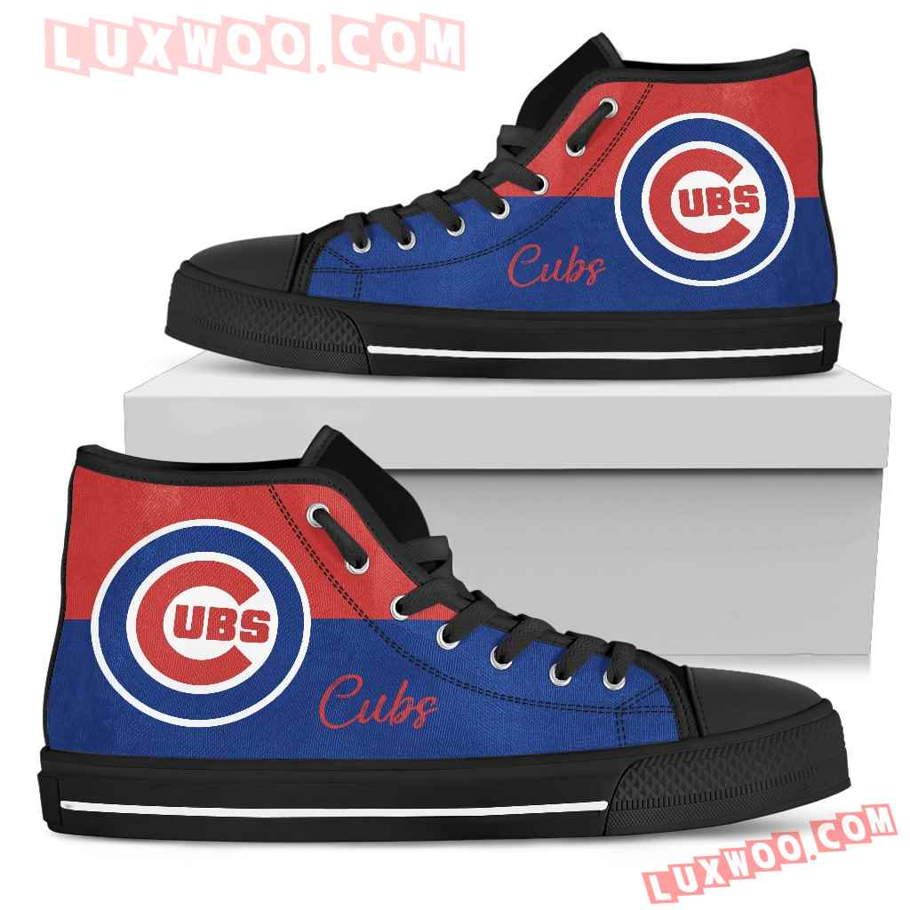 Divided Colours Stunning Logo Chicago Cubs High Top Shoes