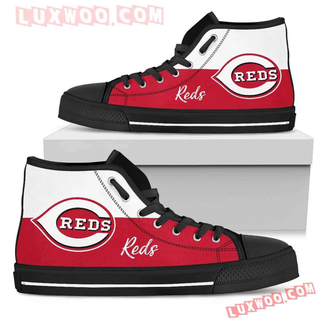Divided Colours Stunning Logo Cincinnati Reds High Top Shoes