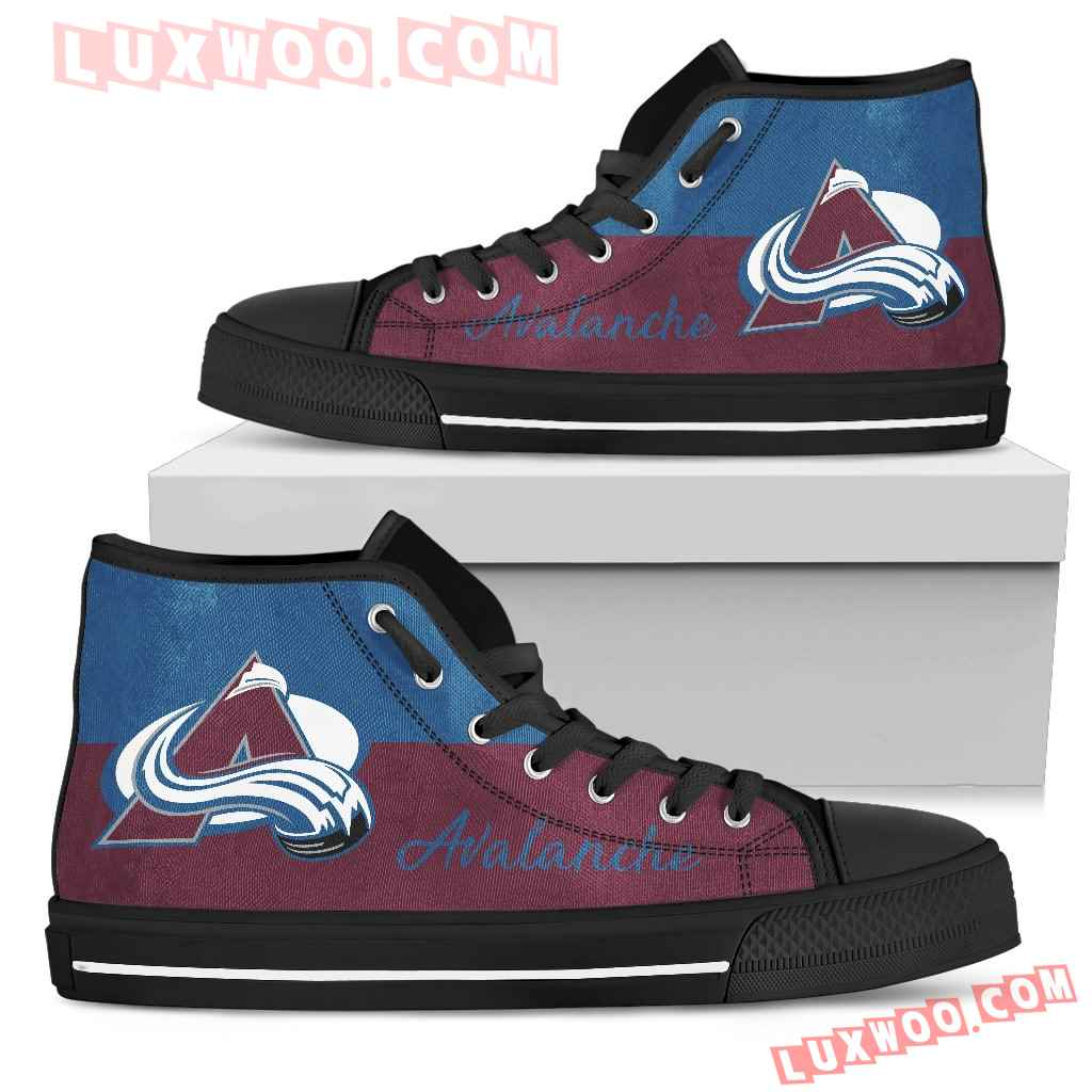 Divided Colours Stunning Logo Colorado Avalanche High Top Shoes