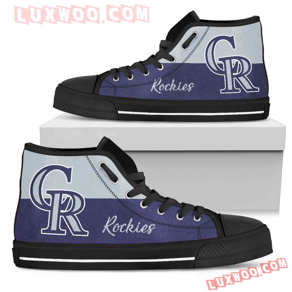 Divided Colours Stunning Logo Colorado Rockies High Top Shoes