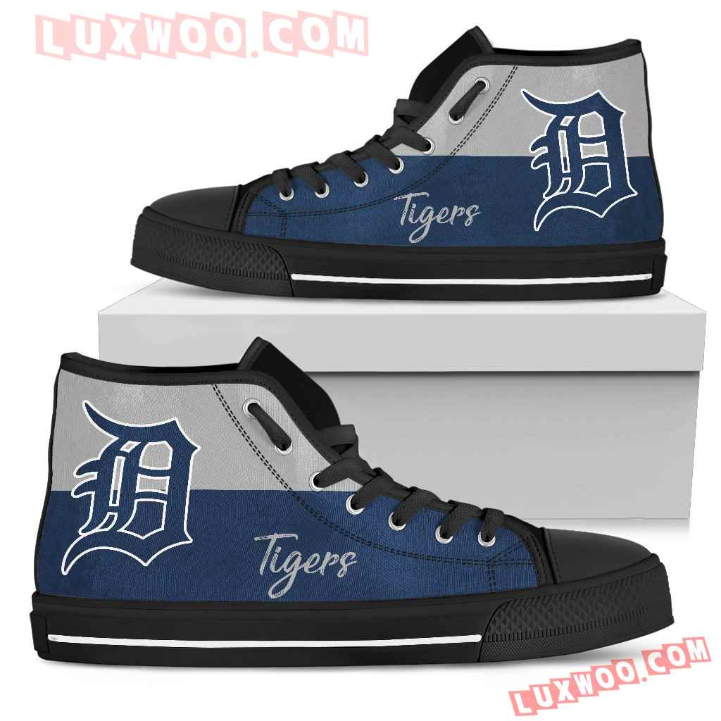 Divided Colours Stunning Logo Detroit Tigers High Top Shoes