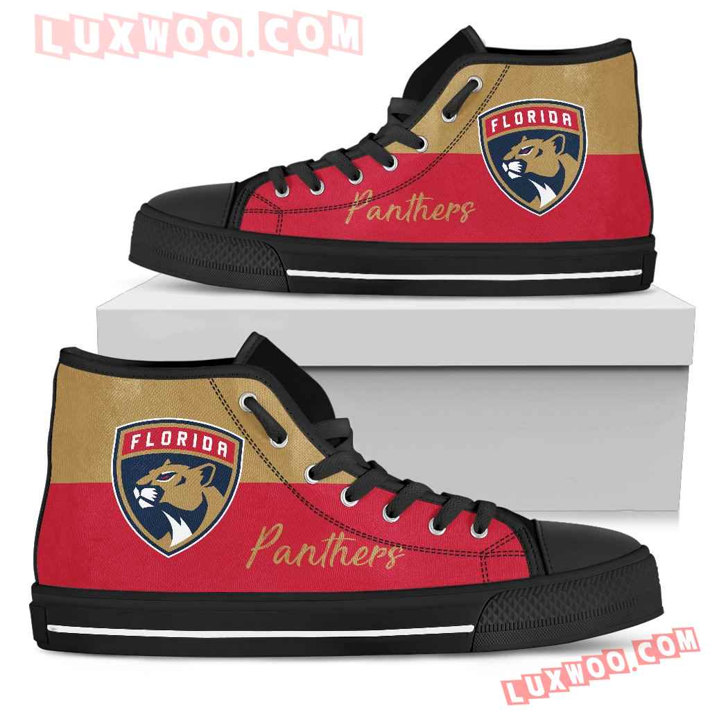 Divided Colours Stunning Logo Florida Panthers High Top Shoes