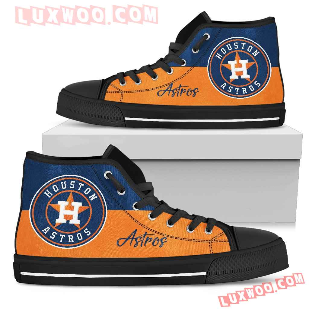 Divided Colours Stunning Logo Houston Astros High Top Shoes