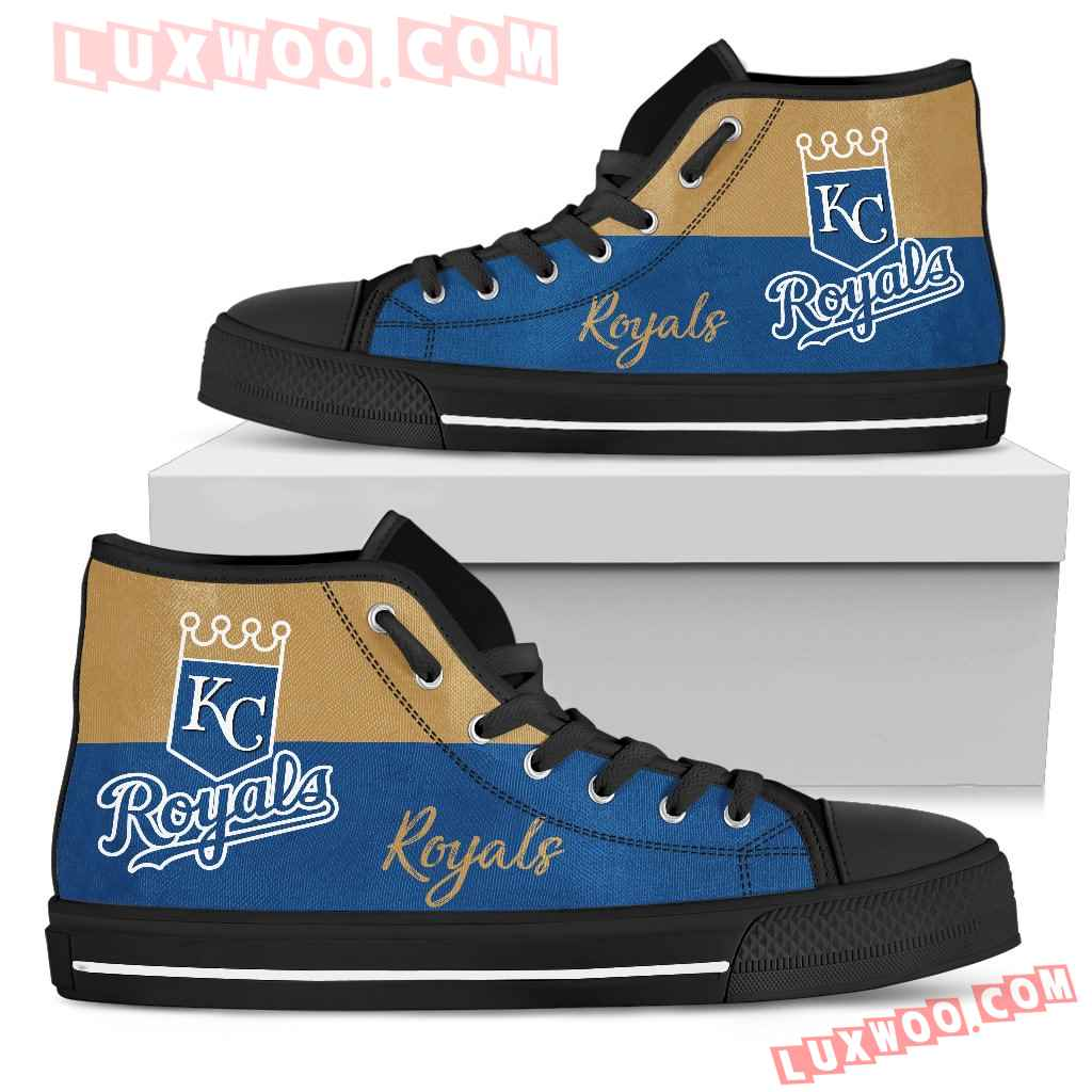 Divided Colours Stunning Logo Kansas City Royals High Top Shoes