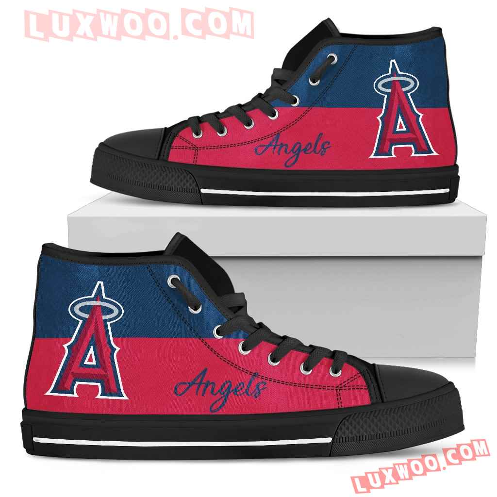 Divided Colours Stunning Logo Los Angeles Angels High Top Shoes