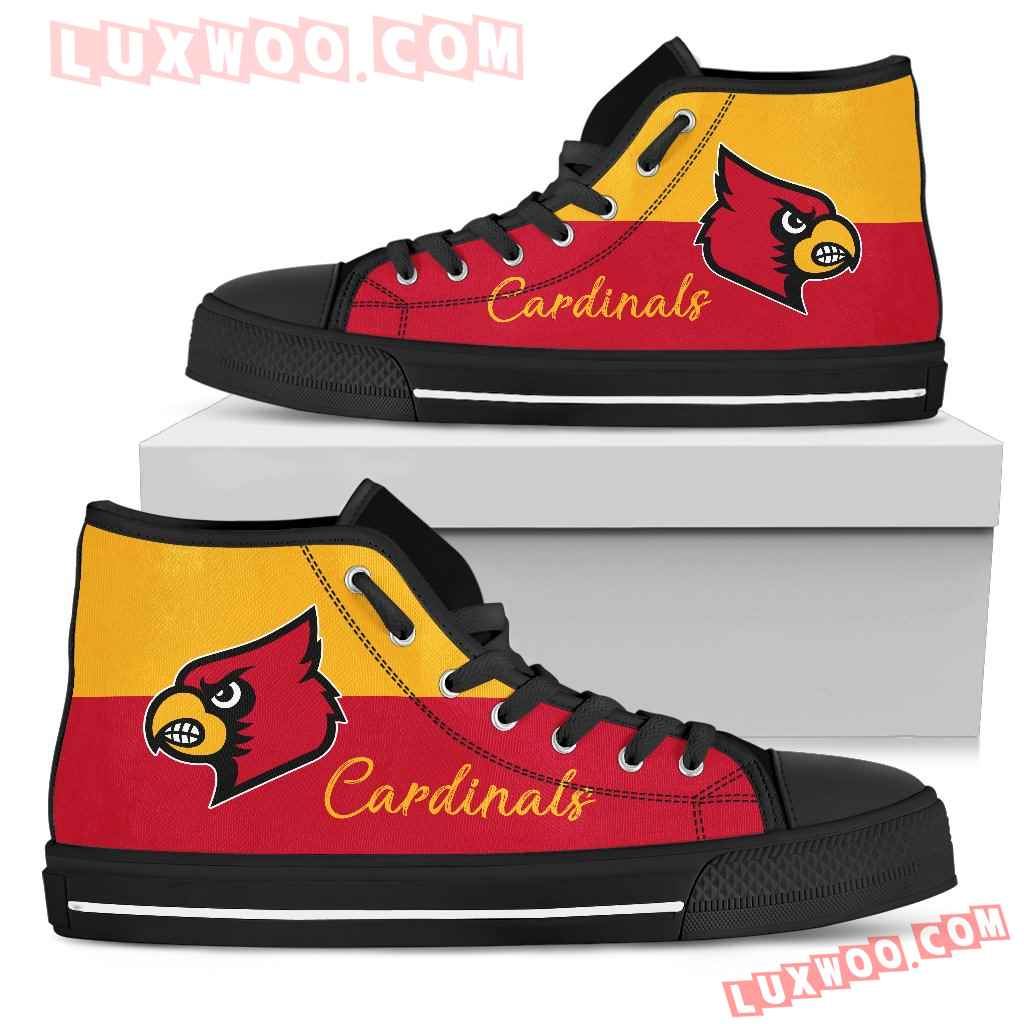 Divided Colours Stunning Logo Louisville Cardinals High Top Shoes