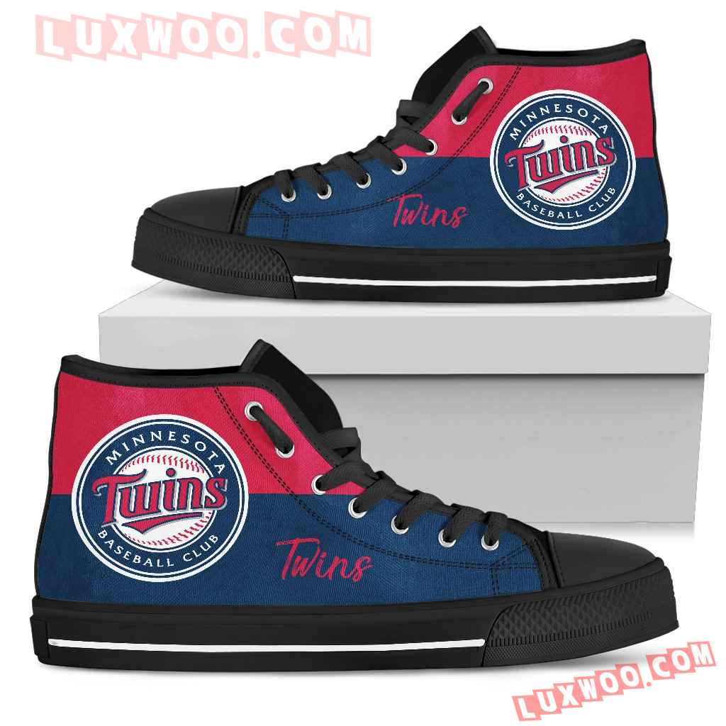 Divided Colours Stunning Logo Minnesota Twins High Top Shoes