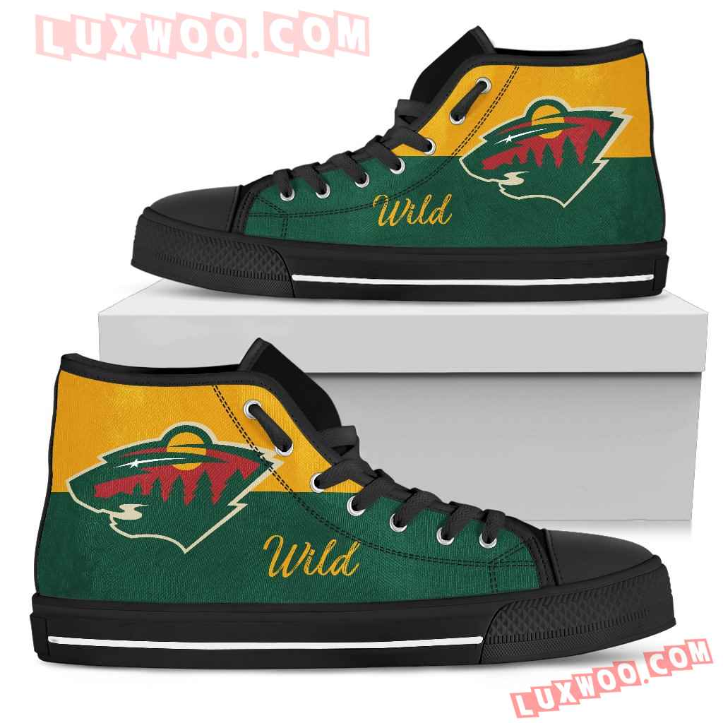 Divided Colours Stunning Logo Minnesota Wild High Top Shoes