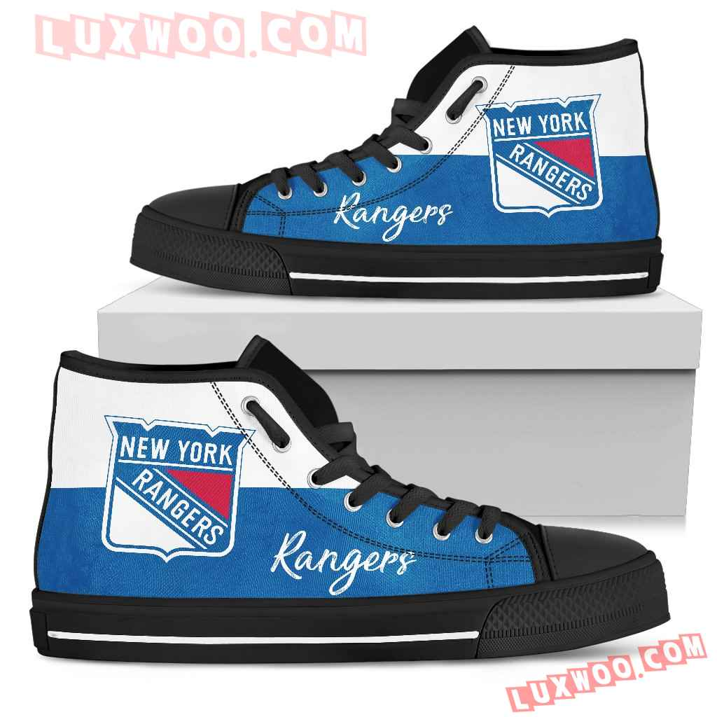 Divided Colours Stunning Logo New York Rangers High Top Shoes