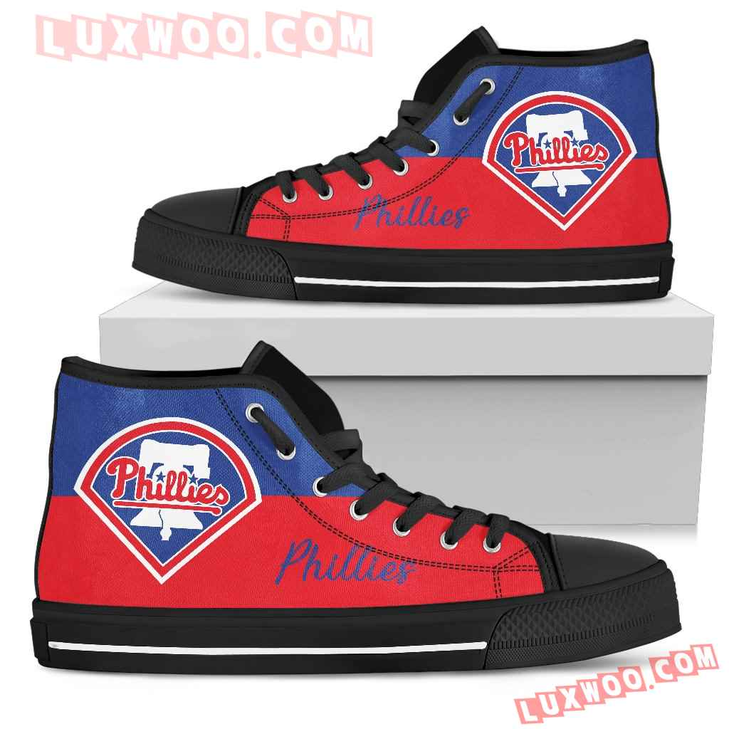 Divided Colours Stunning Logo Philadelphia Phillies High Top Shoes