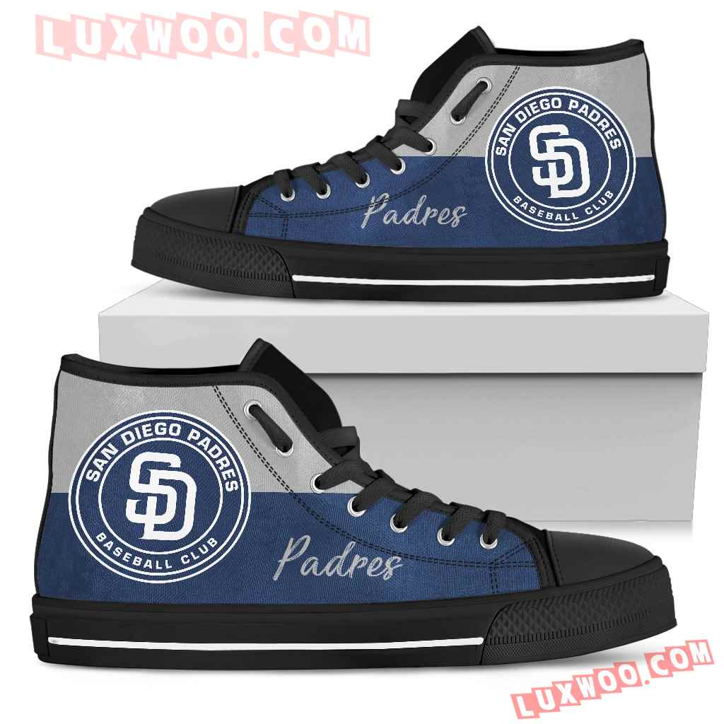 Divided Colours Stunning Logo San Diego Padres High Top Shoes