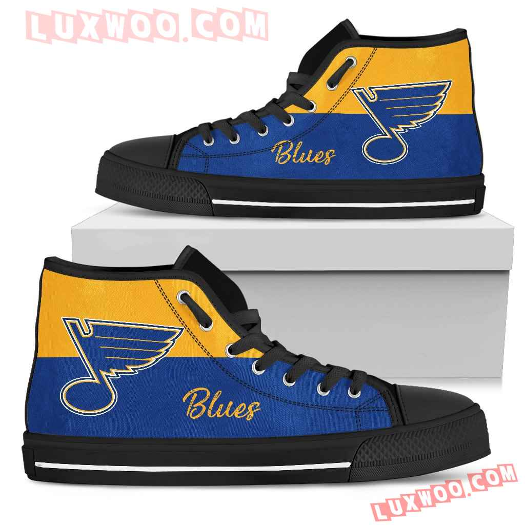 Divided Colours Stunning Logo St Louis Blues High Top Shoes