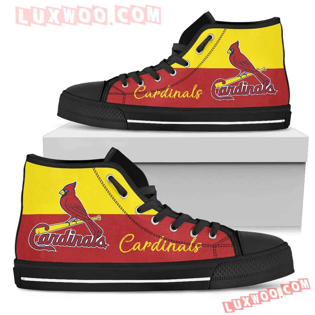Divided Colours Stunning Logo St Louis Cardinals High Top Shoes