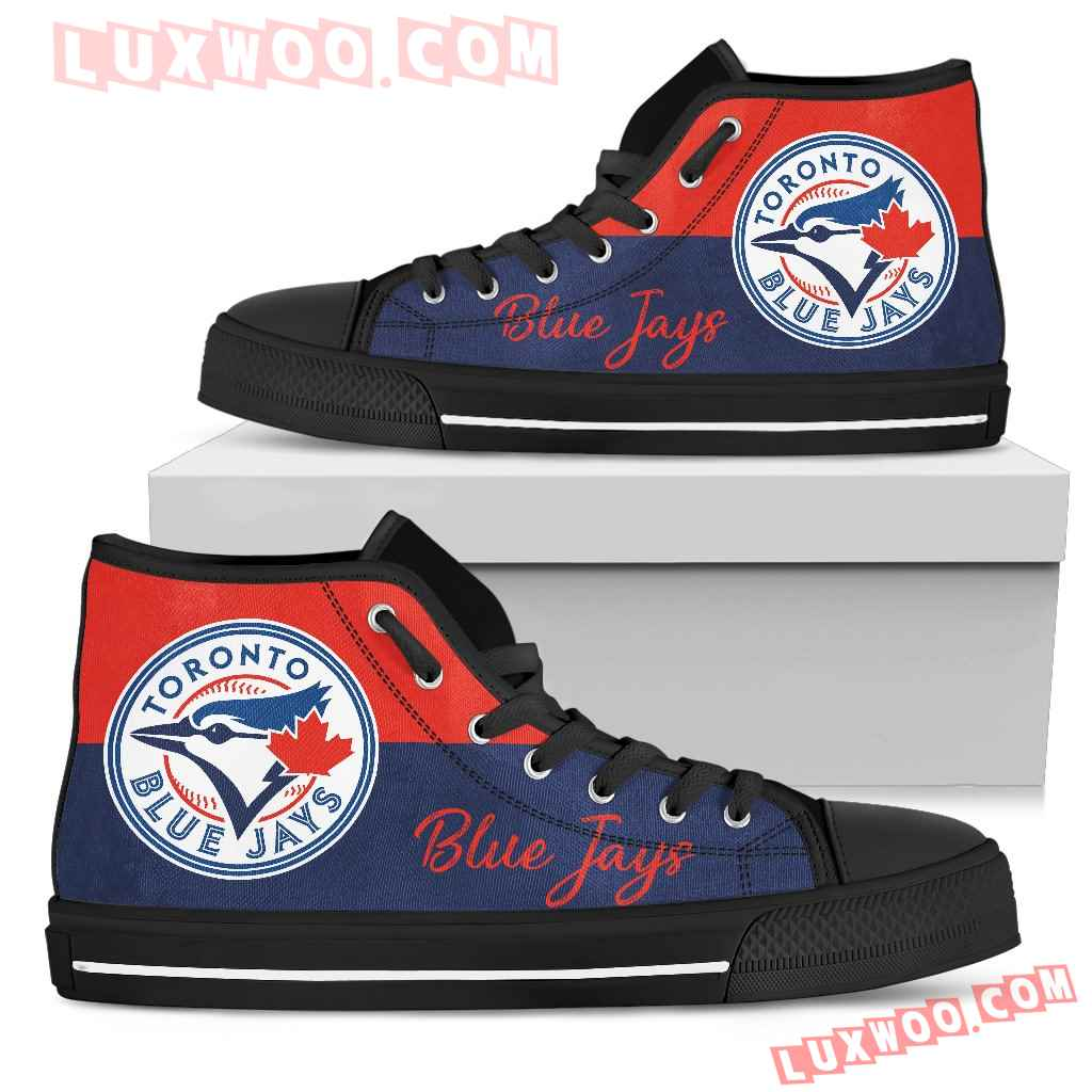 Divided Colours Stunning Logo Toronto Blue Jays High Top Shoes