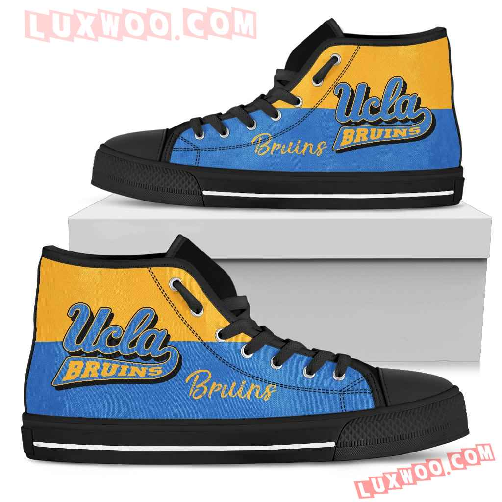 Divided Colours Stunning Logo Ucla Bruins High Top Shoes