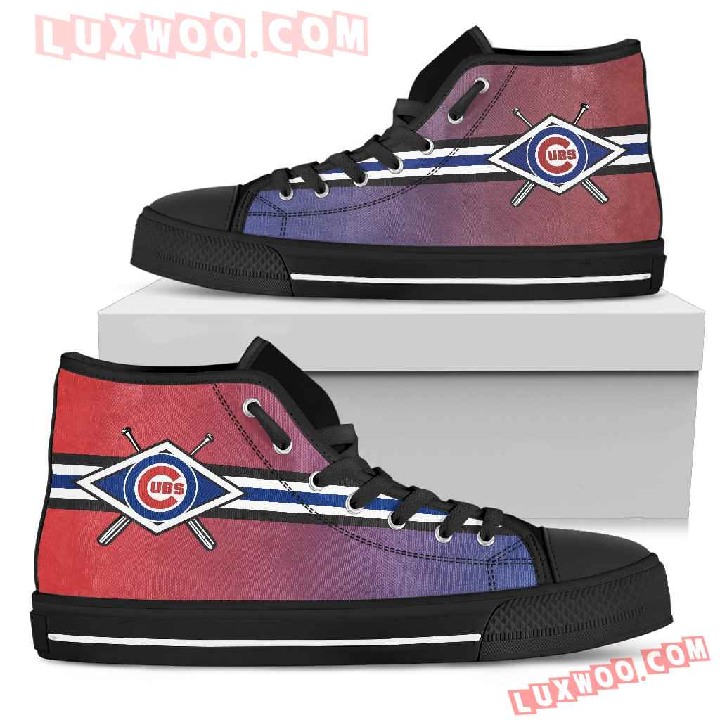 Double Stick Check Chicago Cubs High Top Shoes