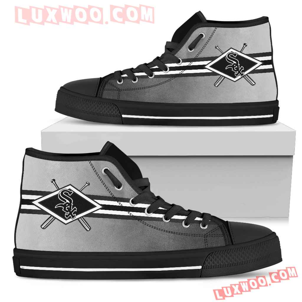 Double Stick Check Chicago White Sox High Top Shoes