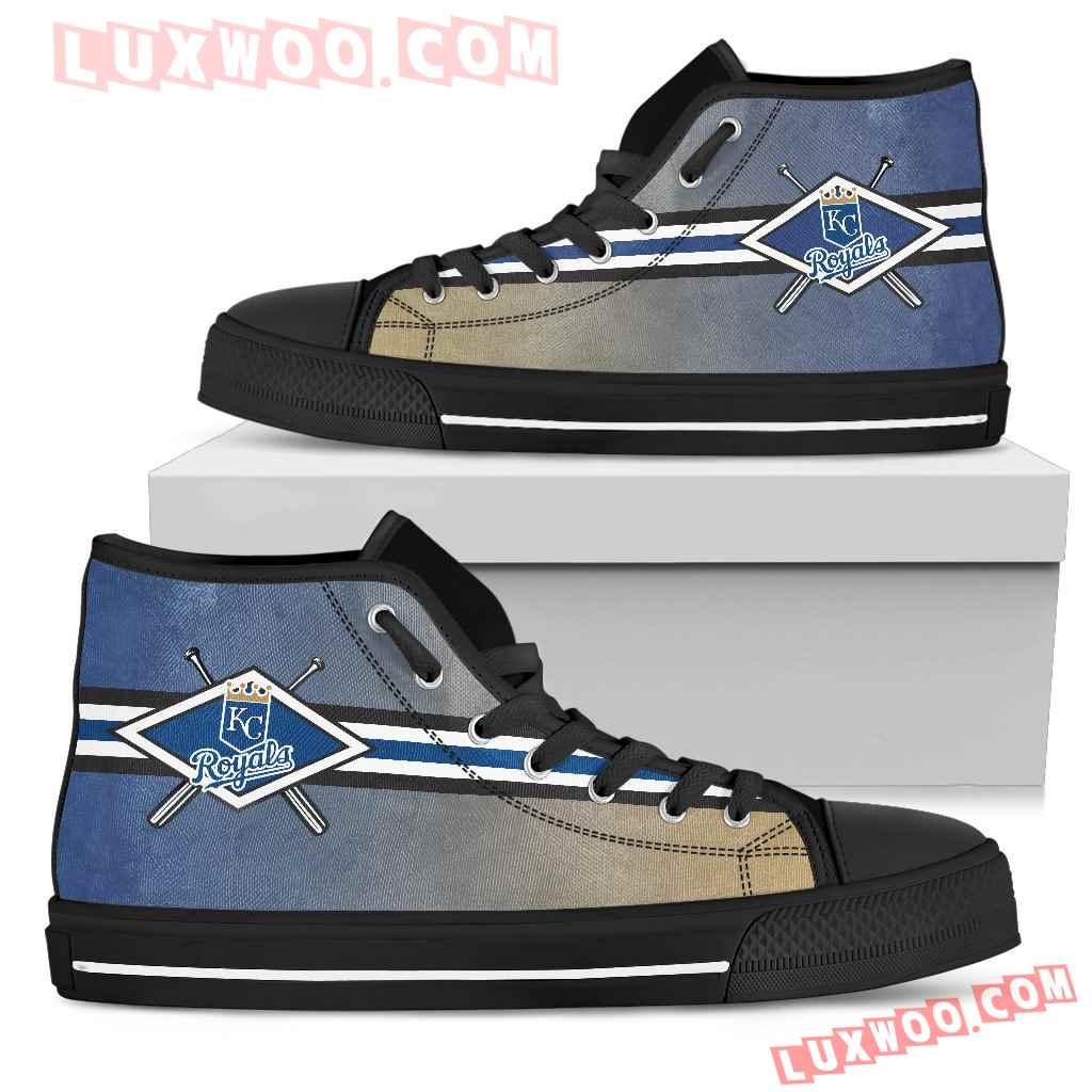 Double Stick Check Kansas City Royals High Top Shoes