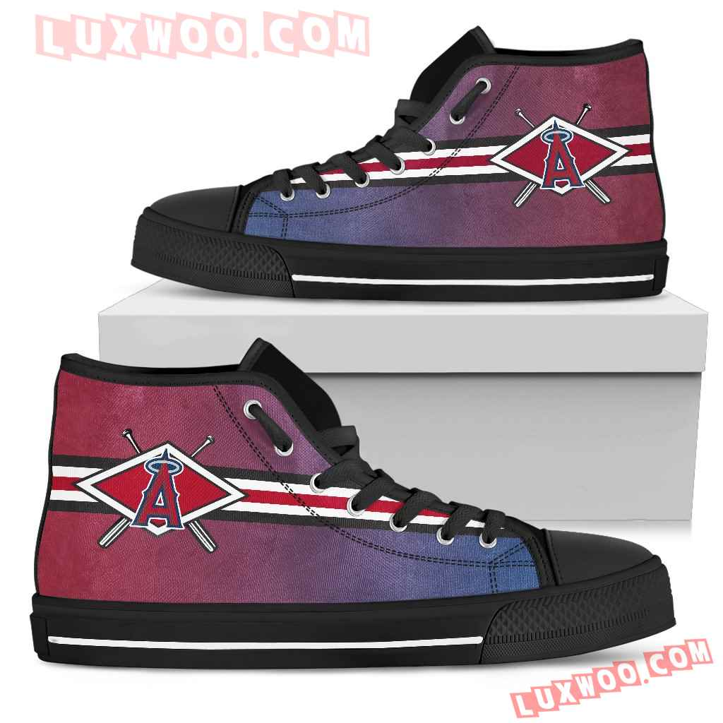 Double Stick Check Los Angeles Angels High Top Shoes
