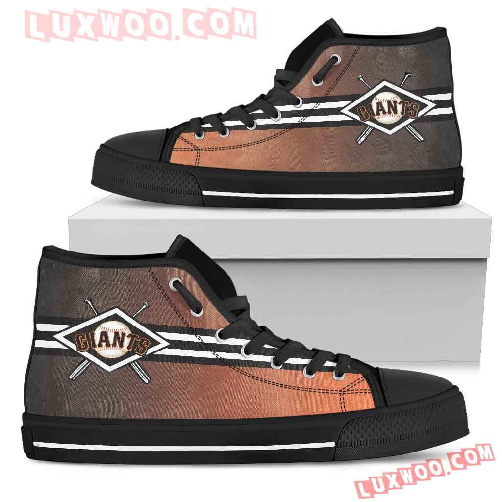 Double Stick Check San Francisco Giants High Top Shoes