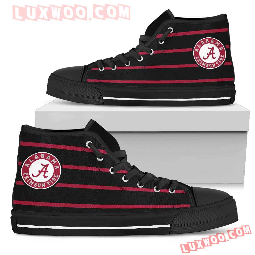 Edge Straight Perfect Circle Alabama Crimson Tide High Top Shoes