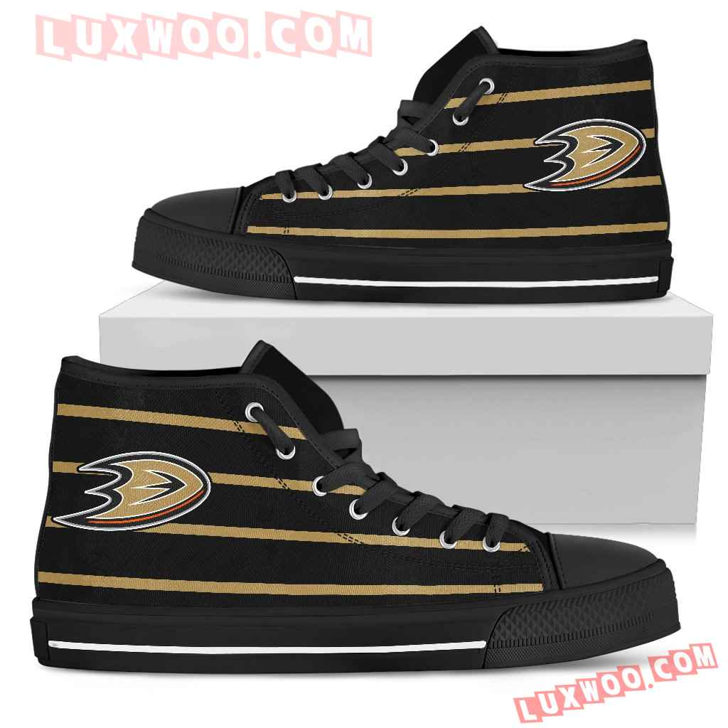 Edge Straight Perfect Circle Anaheim Ducks High Top Shoes