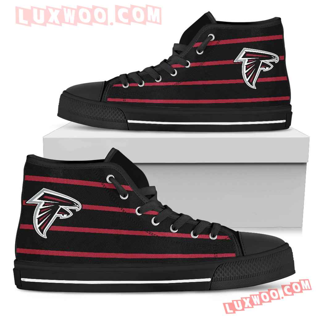 Edge Straight Perfect Circle Atlanta Falcons High Top Shoes