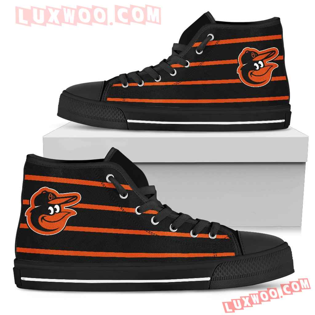 Edge Straight Perfect Circle Baltimore Orioles High Top Shoes