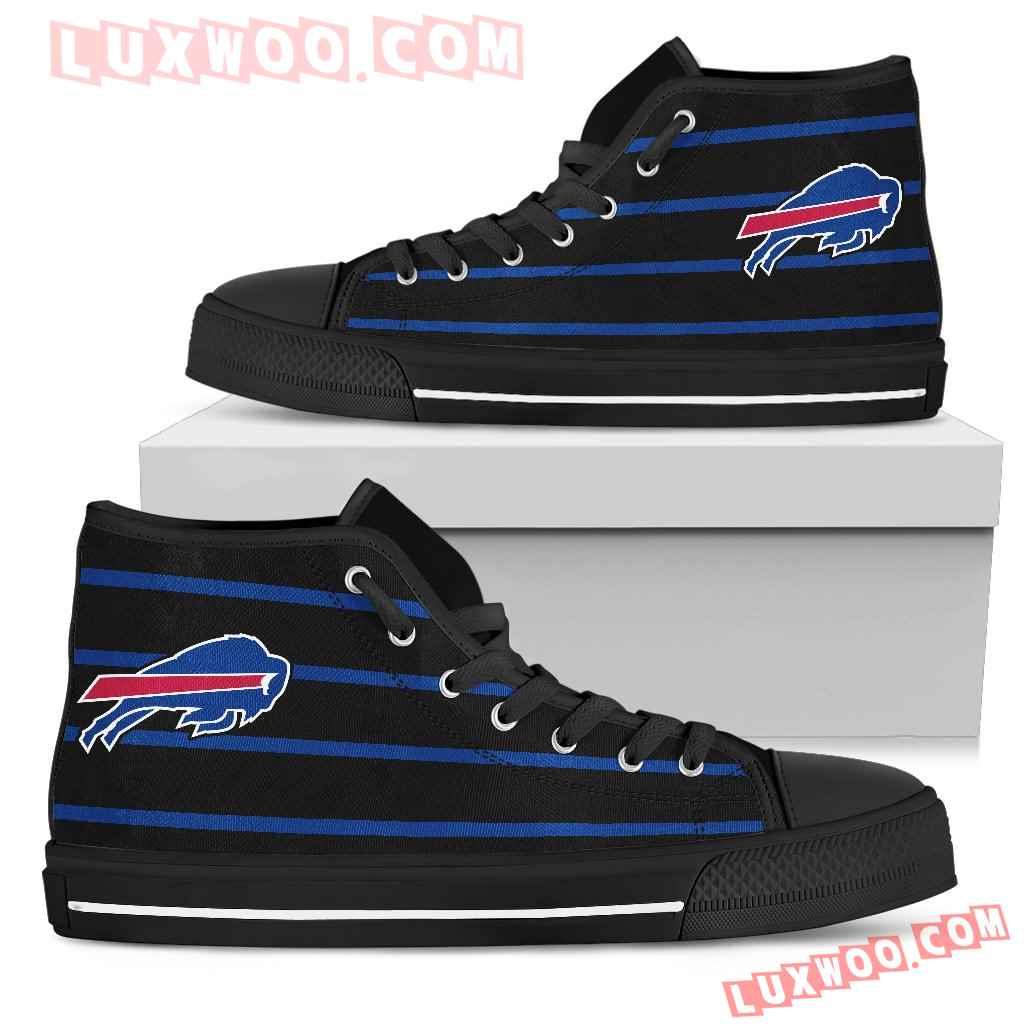 Edge Straight Perfect Circle Buffalo Bills High Top Shoes