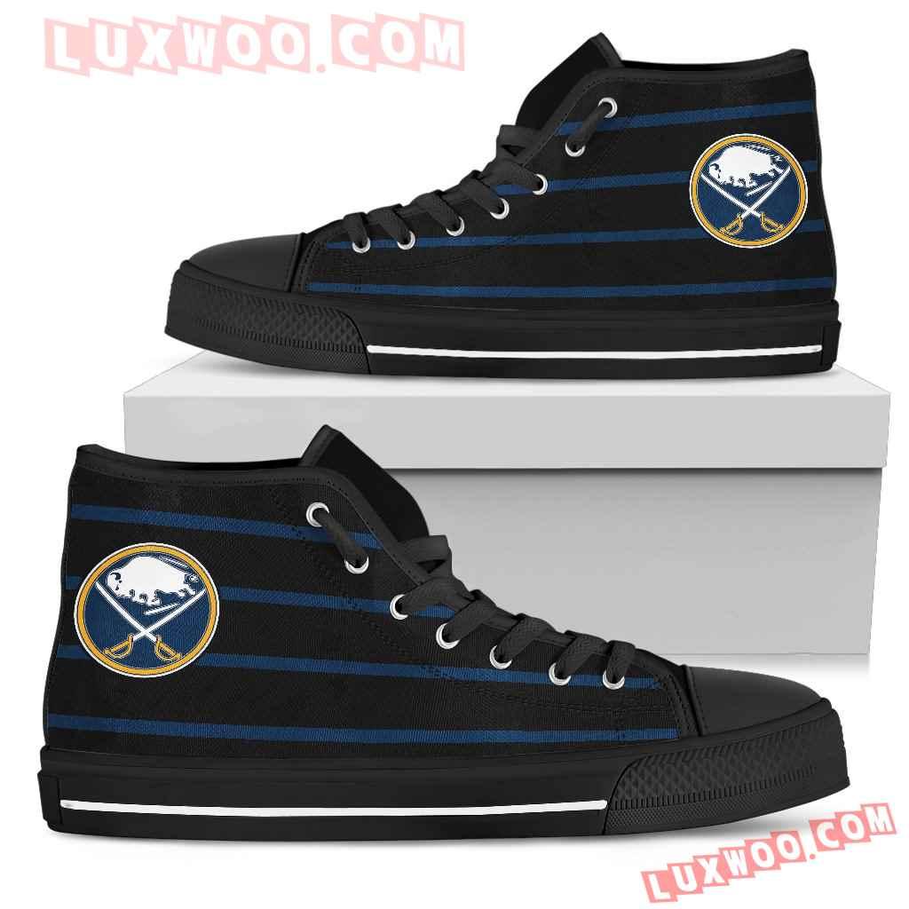 Edge Straight Perfect Circle Buffalo Sabres High Top Shoes