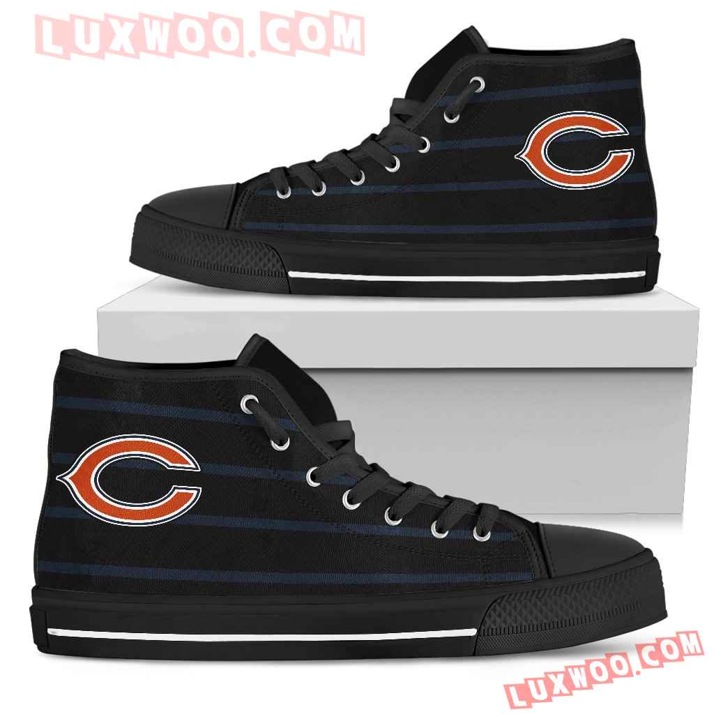 Edge Straight Perfect Circle Chicago Bears High Top Shoes