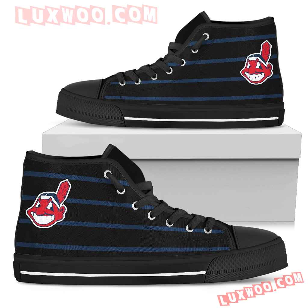 Edge Straight Perfect Circle Cleveland Indians High Top Shoes