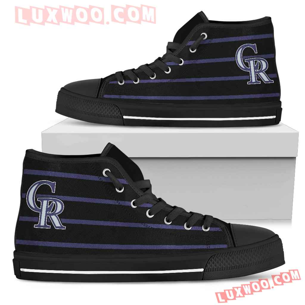 Edge Straight Perfect Circle Colorado Rockies High Top Shoes