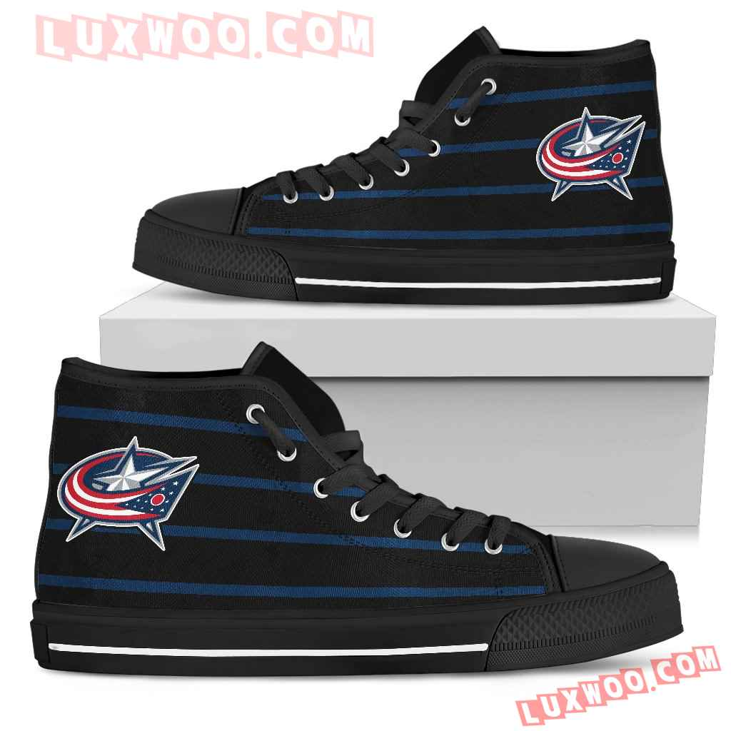 Edge Straight Perfect Circle Columbus Blue Jackets High Top Shoes