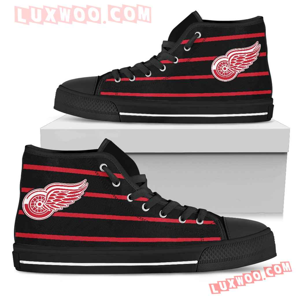 Edge Straight Perfect Circle Detroit Red Wings High Top Shoes