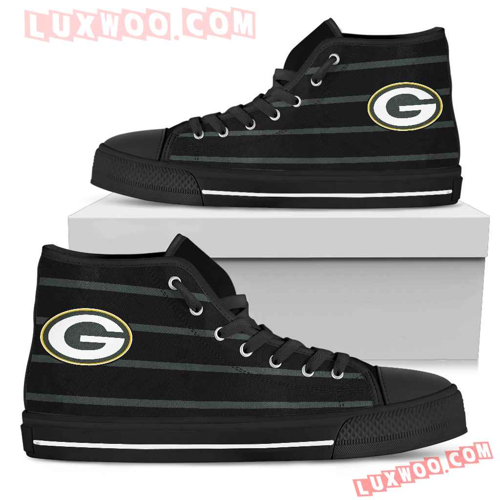Edge Straight Perfect Circle Green Bay Packers High Top Shoes