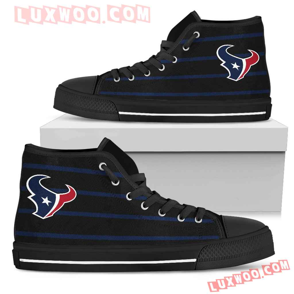 Edge Straight Perfect Circle Houston Texans High Top Shoes