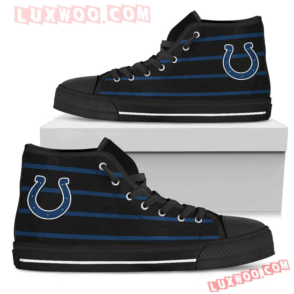 Edge Straight Perfect Circle Indianapolis Colts High Top Shoes
