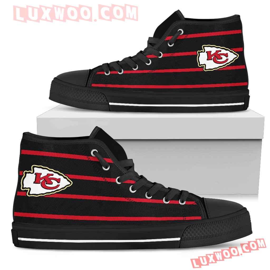 Edge Straight Perfect Circle Kansas City Chiefs High Top Shoes
