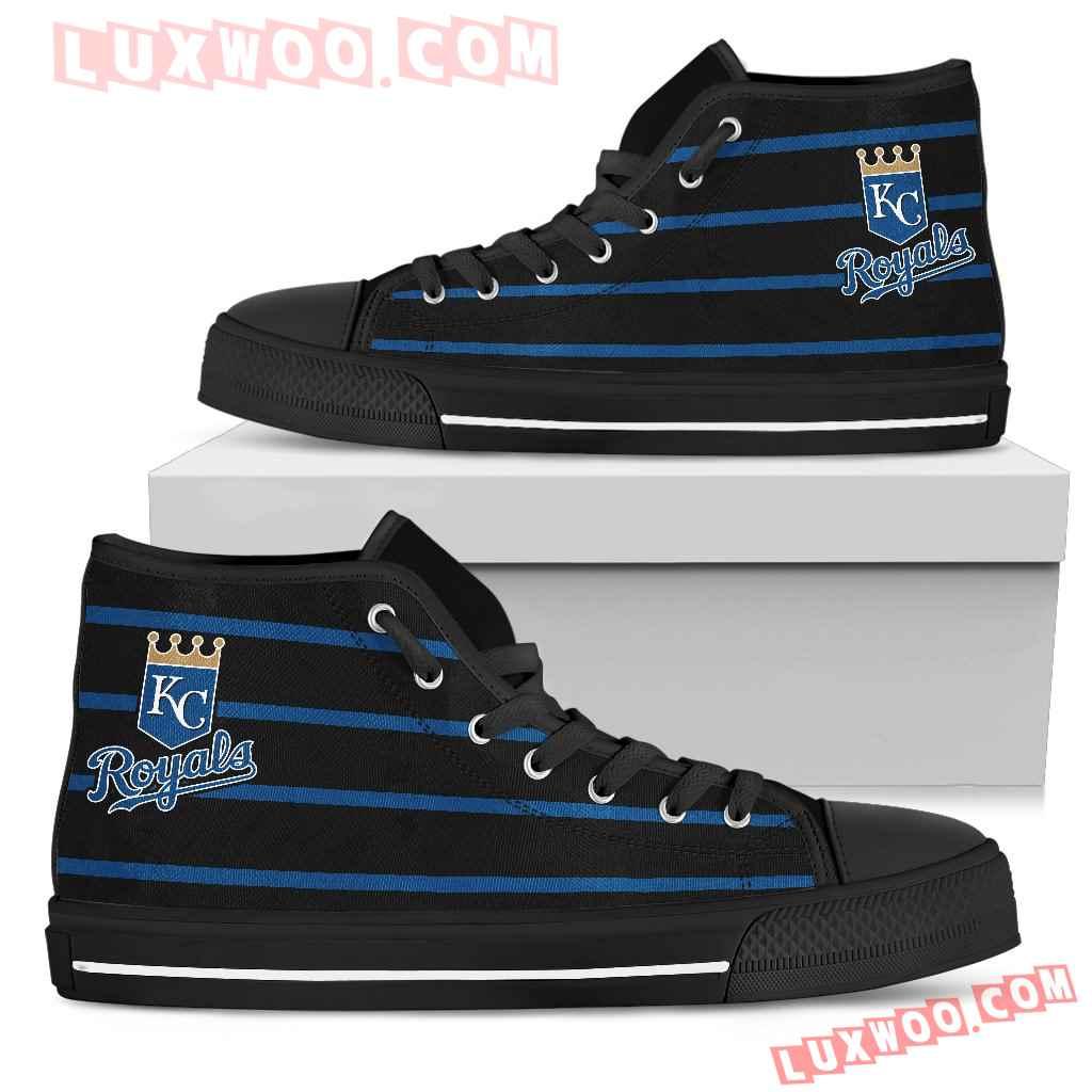 Edge Straight Perfect Circle Kansas City Royals High Top Shoes